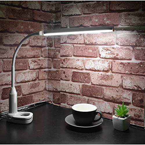 Tischlampe von Tavolo-Clip Tischleuchte A Led, Mini Porta-Libri, Nachttischlampe für Schlafzimmer, Dimmer ohne Gradini Plug-In USB