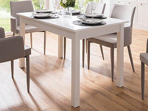 möbelando Esszimmertisch Auszugtisch Holztisch Esstisch Küchentisch Tisch Crawley II Weiß