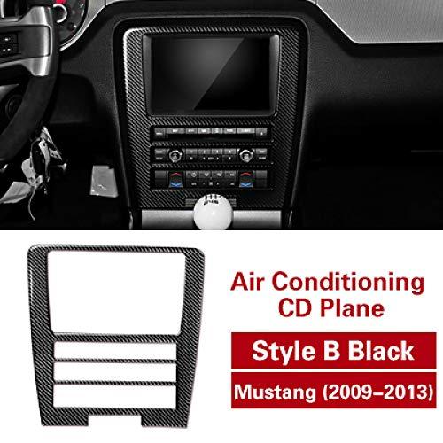 LUVCARPB Cubierta del Panel de Control Central del Coche Recorte Decoración de molduras Interiores Etiqueta autoadhesiva de Fibra de Carbono, Apto para Ford Mustang 2009-2013