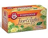 Pompadour 1913 Infusión de flores de tilo con limoncillo calmante y relajante 100% natural y sin cafeína - 1 x 20 bolsitas de té (35 gramos)