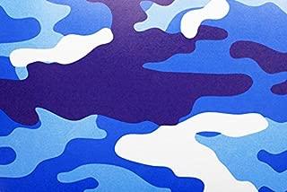 Rwraps Camouflage Vinyl Film Sheet Wrap Roll - Blue Camo 12