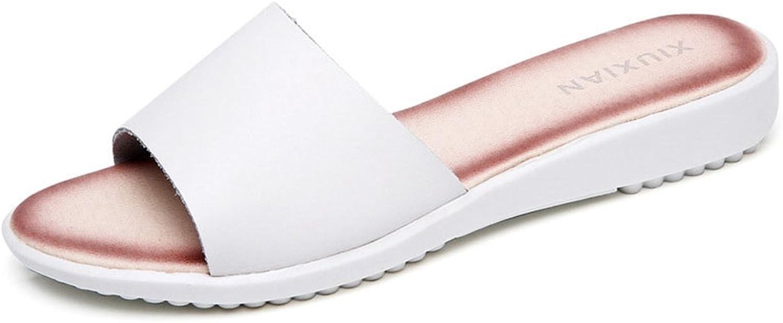 GIY Women's Flat Sandal Soft Sole Comfort Summer Beach Slip on Slippers shoes Slide Sandals