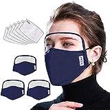 Viewk Maquetas faciales de 6 colores de protección transpirable al aire libre con...