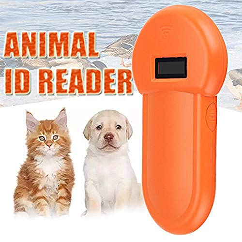 MOMAMO Tier-Kennzeichnung Chip-Leser RFID 134.2Khz-Reader, Chiplesegerät, Tierchip Transponder, Tierkennzeichnung, Handheld Pet Scanner, ISO FDX-B Animal Chip Reader,