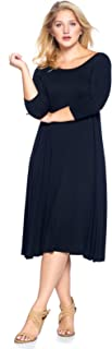 Women's Plus Size Long Sleeve Flowy Maxi Dress (1X-4X)