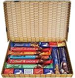 Confezione Regalo Premium Selezione Cioccolato Al Latte - Disponibili Barrette Lindor Al Cioccolato Al Latte, Napolitains, Barretta Nocciolatte