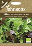 Johnsons 13081 Vegetable Seeds, ORG Lettuce Red & Green Salad Bowl Mixed