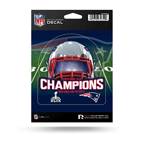 Rico New England Patriots Official NFL 5 inch Super Bowl 49 Champions Medium Die Cut Car Decal by 871833