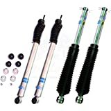 Bilstein B8 5100 Series Set of 4 Monotube Replacement Gas Charged Shock Absorbers for 07-15 Jeep Wrangler JK 4WD 4in Front and Rear Lift