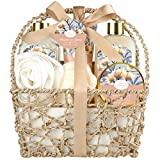 Home Spa Gift Basket, Relaxation Spa Kit for Women, with Body Lotion, Shower Gel, Bubble Bath, Body Scrub, Bath Salt, Bath Bomb, Perfect Gift Set for Mother, Wife Her,with Magnolia and Jasmine Scent