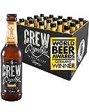 CREW REPUBLIC® Easy - Cerveza artesanal ligera de fermentación superior | Ganadora del'World Beer Awards 2020' Golden Ale | Elaborada en Baviera según la ley de pureza Alemana (20 x 0,33l)