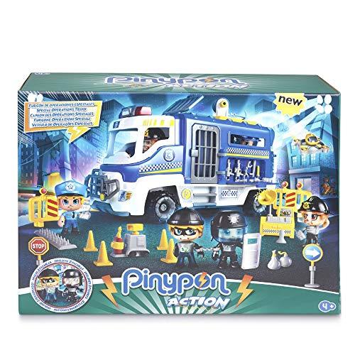 Giochi Preziosi Pinypon Action Camión de policía con 2 Personajes y Accesorios