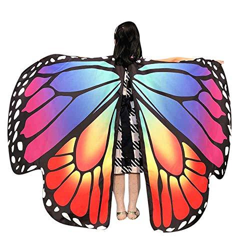MIRRAY Karneval Kostüme Kind Baby Mädchen Schmetterlingsflügel Schal Schals Nymphe Pixie Poncho Kostüm Zubehör Hellblaues