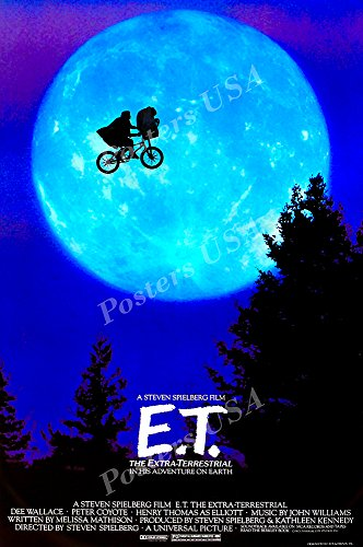 Posters USA - E.T. Movie Poster GLOSSY FINISH - MOV442 (24' x 36' (61cm x 91.5cm))