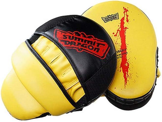 GUYUEXUAN Cible de Boxe courbée Jaune, Cible de Boxeur courbée, Cible de Pied d'entraîneHommest Sanda Taekwondo, Haute qualité