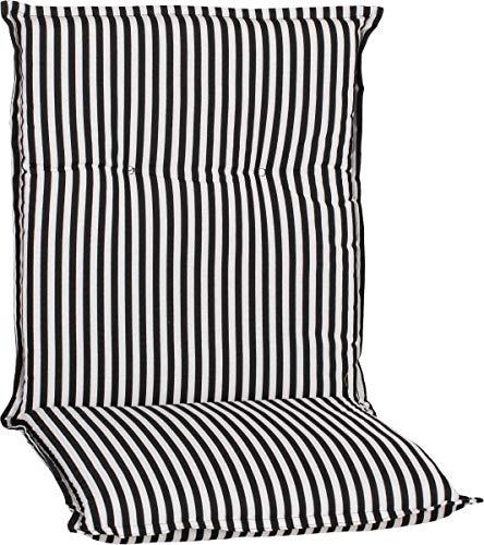 Beo Gartenmöbel Auflage Streifen schwarz Weiss für Niedriglehner BE807 Tupelo