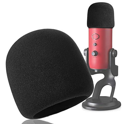 Espuma Paraviento Micrófono Parabrisas para Blue Yeti Yeti Pro Condenser Micrófono como Pantallas y filtros anti-pop por (Negro) YOUSHARES