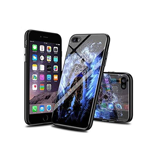 XaNChVlI Compatible con iPhone 7 Funda, iPhone 8 Funda Carcasa con Dibujos patrón Diseño [Bordes en Suave TPU Silicona] Híbrida Tempered Vidrio para iPhone 7 / iPhone 8#D008