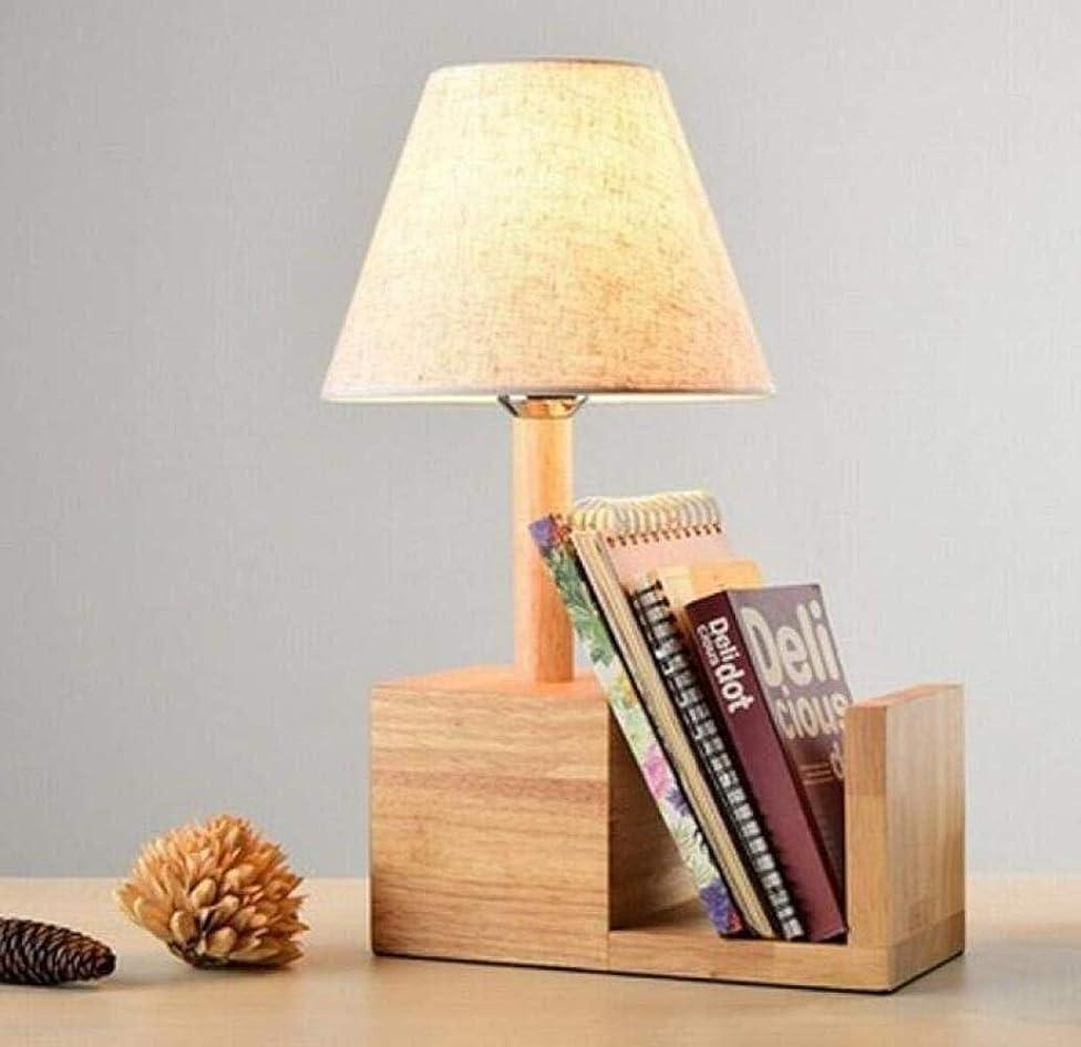 雰囲気逃れる平等Rjj ログの寝室のベッドサイドランプの暖かい装飾学習デスクランプヨーロッパの本棚創造デスクランプ あたたかい