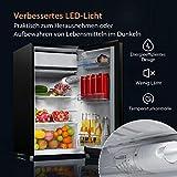 COSTWAY Kühlschrank mit Gefrierfach Standkühlschrank Gefrierschrank Kühl-Gefrier-Kombination / 91L / Schwarz - 6