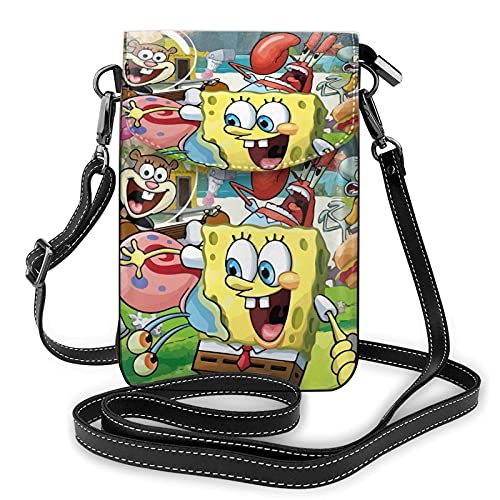 XCNGG Women's Small Crossbody Bag with Shoulder Strap,SpongeBob's Joy Small Cell Phone Purse Wallet with Credit Card Slots