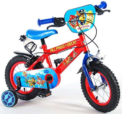 Paw Patrol, Bicicletta per Bambino con Licenza, Rosso, 12'