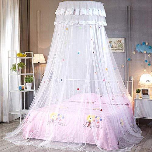 GWFVA Kuppel Decke Unteres Bett Baldachin Sky Princess Repellent Zelt Queen Net Bett Zelt Single Door Boden Vorhang Weiß