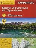 3D-Wanderkarte Eggental und Umgebung: Cartina escursionistica 3D Val d'Ega e dintorni (Kombinierte Sommer-Wanderkarten Südtirol / Topografische Karte + 3D-Panoramakarte)