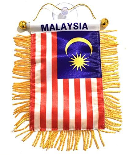 PRK 14 Malaysia-Flaggen für Auto, Zuhause, Fenster, klebt auf Glas, Qualität Made Mini Banner