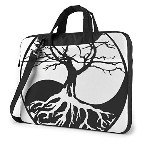 Yin Yang Bonsai Tree Unisex Laptop Bag Messenger Shoulder Bag for Computer Briefcase Carrying Sleeve