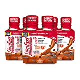 SlimFast Advanced Energy Caramel Latte Shake  Ready to Drink Meal Replacement  20g of Protein - 11 fl oz Bottle  12 Count - Pantry Friendly