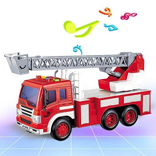FYRMMD Radio Control Rescue Coche de Control Remoto Camión de Bomberos Camión de Bomberos RC El Mejor Juguete para niños y niñas con luz (Coche de Control Remoto)