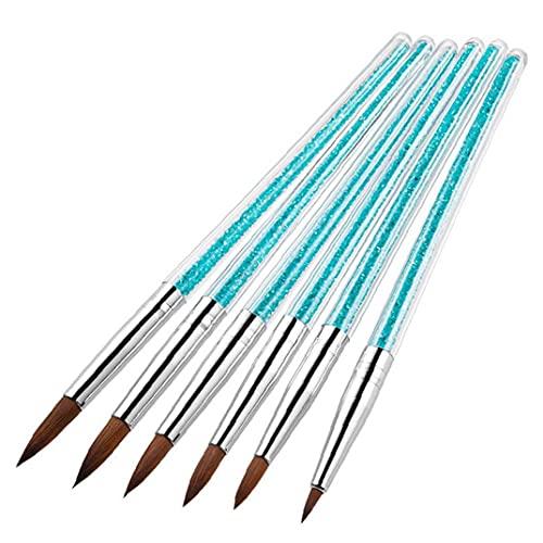 Professional Acrylic Nail Painting Drawing Pen Nail Art Brush Set Handle Manicure Tool 6PCS