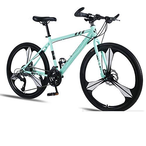 Vélo de montagne pour adulte 24 vitesses avec double freins à disque amortisseur ultra léger pour étudiant en environnement urbain et trajets vers et depuis le travail