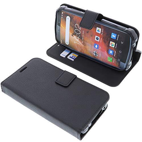 foto-kontor Tasche für Oukitel WP5 Book Style schwarz Schutz Hülle Buch