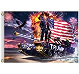 【100% American Trump Flag】--- Beautiful expert Trump Flag,Show you support Trump President . When you show this flag, you will be Pride of it! 【Luxury quality】--- Durable Polyester, UV Fade Resistan and chemical deterioration, Brass Grommets, you wil...