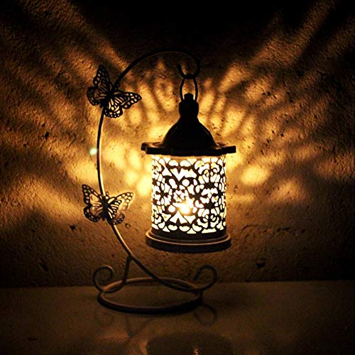 Duokon Lanterna Candela Vintage, candelabri Europei per Famiglie Gabbia per Uccelli Porta Candela Vuota per Cerimonia di Cerimonia Nuziale Centrotavola Decorazione Domestica