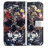DeinDesign Étui Compatible avec Samsung Galaxy S6 Edge Plus Étui Folio Étui magnétique Fleurs...