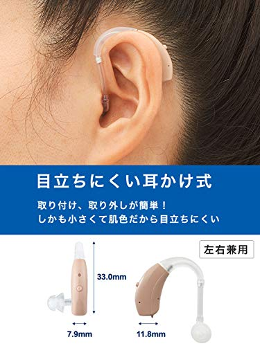 ONKYO補聴器空気電池1パック付耳かけ左右両耳用防塵防水PR-41付集音器小型OHS-EH21ADI