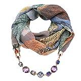 Oliviavan Damen Halskette Modeschmuck Anhänger Schals & Tücher Jahrgang böhmischen Stil einfarbig mit Schnalle Kette Quasten Schal Halskette und Leinen mit Lätzchen