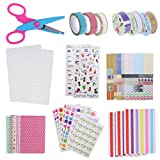 NACTECH 50Pcs Kit Album Fotografico Fai da Te Scrapbook Set di Accessori per Album Scrapbo...