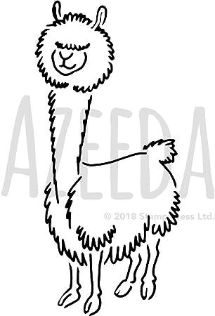 Lineare Stilisierte Zeichnung Von Lama Alpaka 10