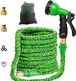 Youfen Gartenschlauch Flexibler Gartenschlauch Flexischlauch Gartenschlauch Zoll Gartenschläuche Erweiterbarer Auslaufsicherer Schlauch - Hochleistungs Flexibler Gartenschlauch (50FT)