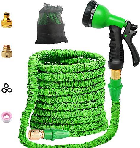 Youfen Gartenschlauch Flexibler Gartenschlauch Flexischlauch Gartenschlauch Zoll Gartenschläuche Erweiterbarer Auslaufsicherer Schlauch - Hochleistungs Flexibler Gartenschlauch (100FT)