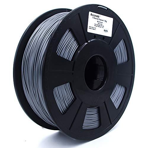 Weistek 1.75mm PLA Filament, 3D Printer MetalFilament, Dimensional Accuracy +/- 0.03 mm, 1.1 LBS(0.5 KG) Spool, Filament for 3D Printers, Aluminum