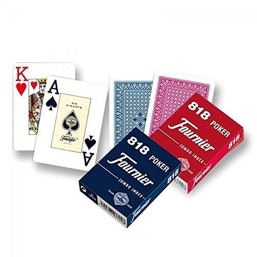 Outletdelocio. Pack de 2 Barajas de Poker Fournier. 55 Cartas 1 roja y 1 Azul