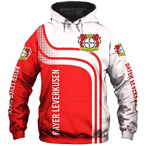 guonan Männer Hoodies Zum Bayer-Leverkusen 3D Drucken Fußball Club-Fan Jacke Pullover/Zip Sweatshirts Sport / A1 / XL