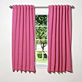 Best Home Fashion Thermal Insulated Blackout Curtains - Back Tab/Rod Pocket - (Set of 2 Panels)