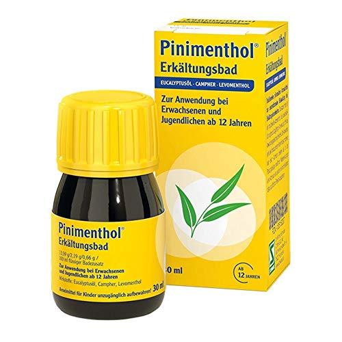 Pinimenthol®Erkältungsbad –Der Klassiker bei Erkältung –Mit wirksamen ätherischen Ölen –Für Erwachsene und Heranwachsende ab 12 Jahren –30 ml