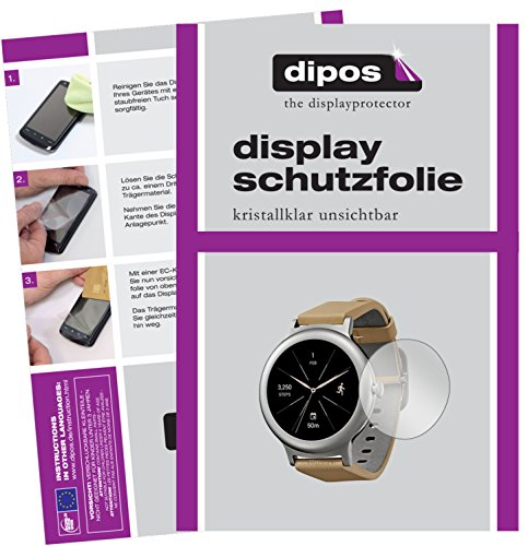dipos I 6X Schutzfolie klar kompatibel mit LG Watch Style Folie Bildschirmschutzfolie
